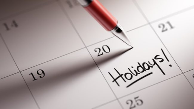 Holiday Calendar Dubai