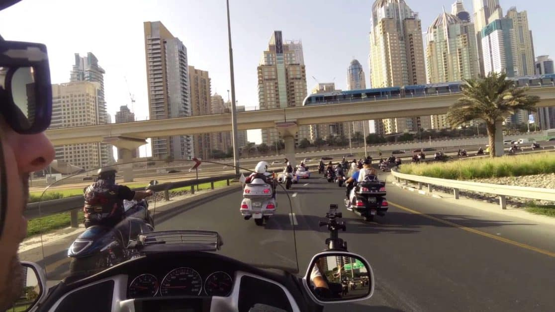 Cruising Through Dubai in a Motorcycle
