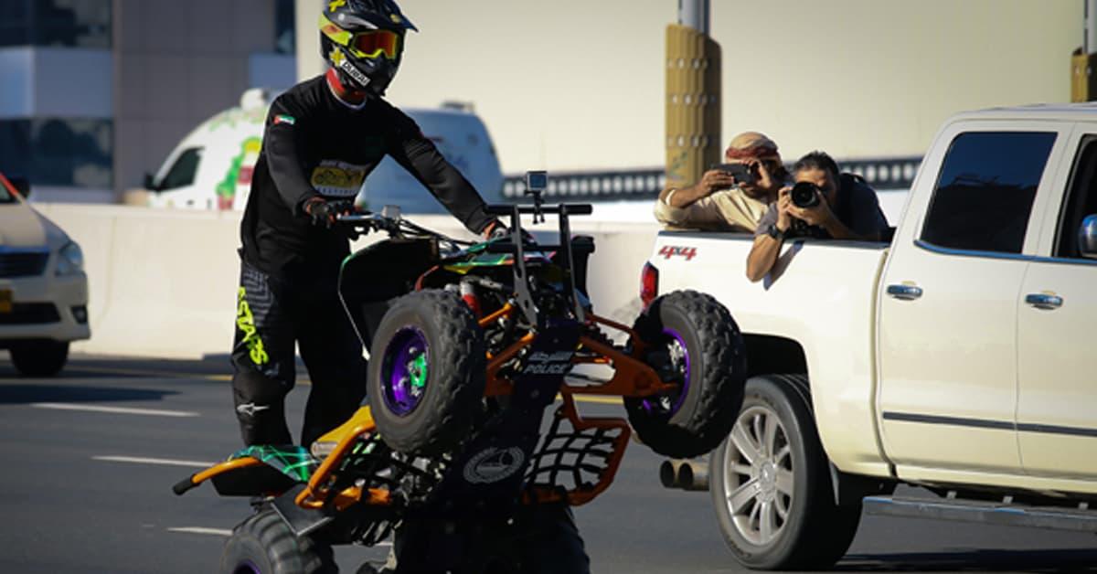 Dubai Police World record for longest wheelie